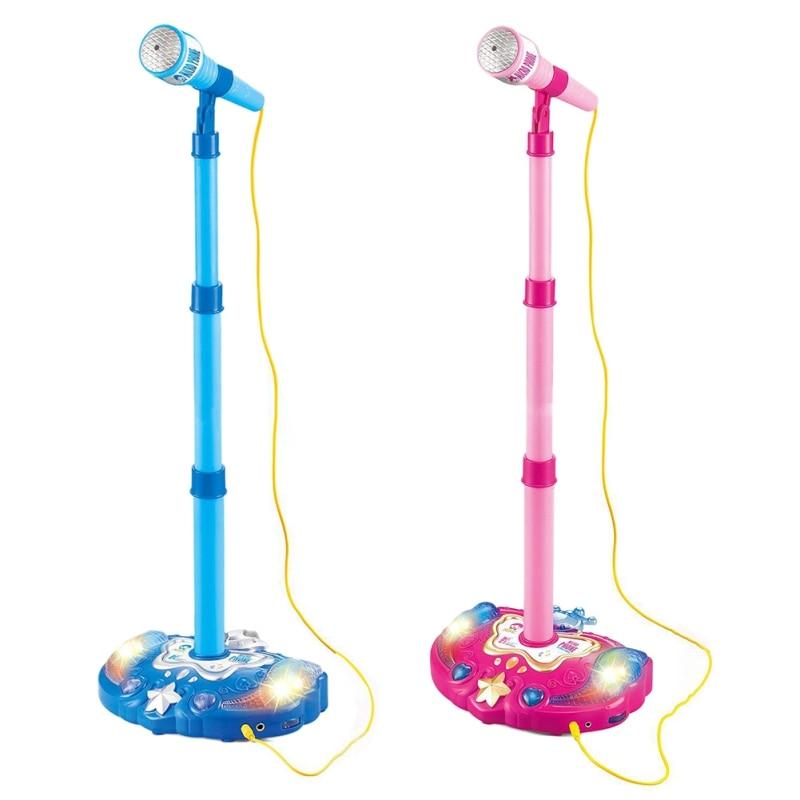 Kids Karaoke Microphone Musical Instruments For Children Plastic Cartoon Design Birthday Gifts Intelligence Development Toys B