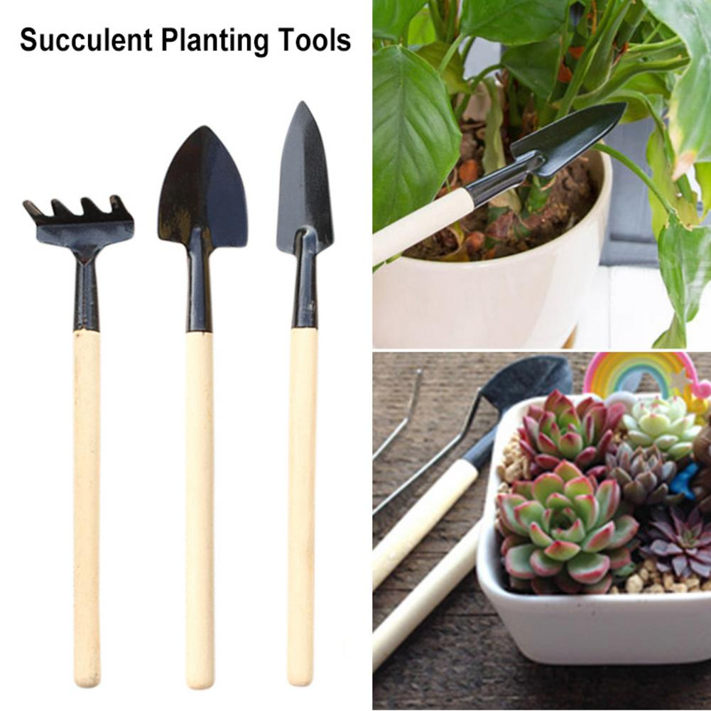 Three-piece Set Of Mini Planting Tools For Succulent Plants And Flowers Gardening Tools