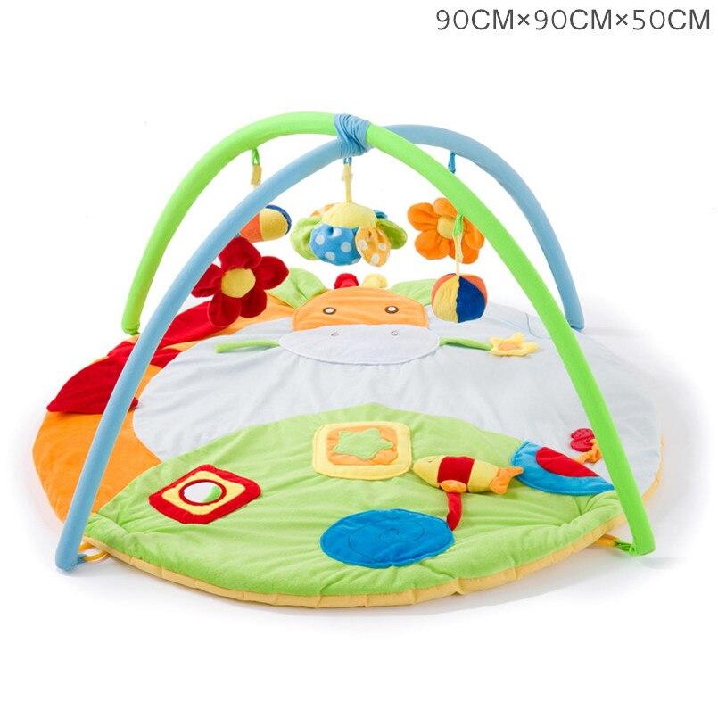 0-12 mois tapis d'activité bébé avec Musical doux Animal sensoriel bébé Gym ramper tapis de jeu jouets éducatifs pour enfants cadeau - 4