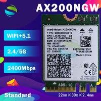 Adaptador inalámbrico de doble banda para ordenador de escritorio, tarjeta Wifi de 2400Mbps, Bluetooth 5,0, NGFF M.2, para Intel AX200, 802, 11ac/ax Windows 10