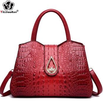 Fashion Crocodile Pattern Women Handbag Large Tote Bag Brand Leather Shoulder Bags Female Luxury Handbags Women Bags Designer