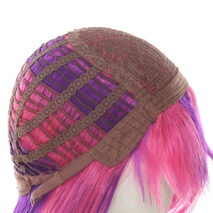 "Image 5 - L דוא""ל פאה LoL Xayah קוספליי פאות כוכב שומרים קוספליי ארוך ורוד סגול פאה עם אוזני ליל כל הקדושים חום עמיד סינטטי שיער"