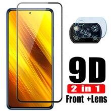 Vetro di protezione su redmi 9a macchina fotografica della protezione per xiaomi poco x3 nfc vetro di protezione tremp pellicola redmy nota 9s 9 7 8 pro 8t glas