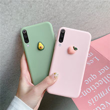 3D Fruit Perzik Druif Siliconen Case Voor Xiao Mi Rode Mi Note 5 6 7 Pro S2 Mi A1 A2 a3 8 Lite 8SE 9 Se CC9 CC9e Cover Soft Matte(China)