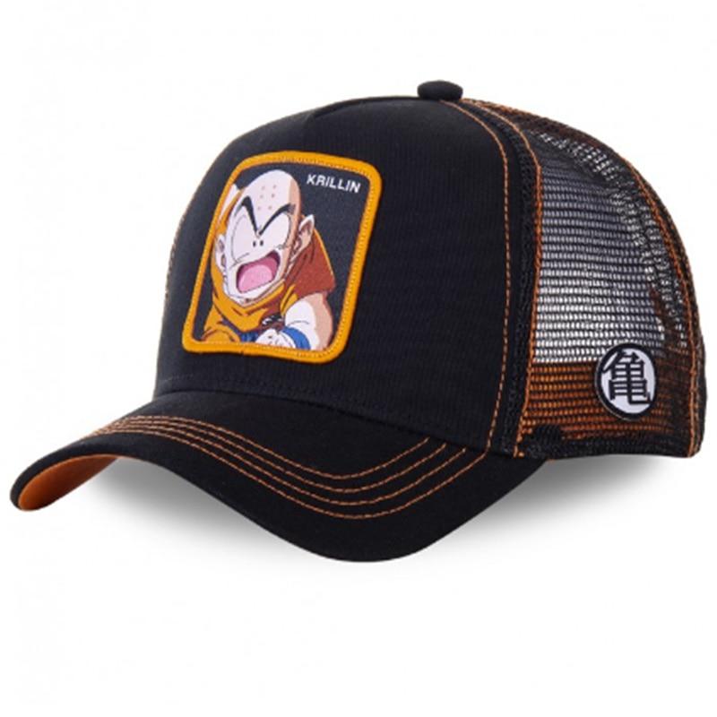 New Brand Dragon Ball Krillin Snapback Cotton Baseball Cap Men Women Hip Hop Dad Mesh Hat Trucker Hat Dropshipping
