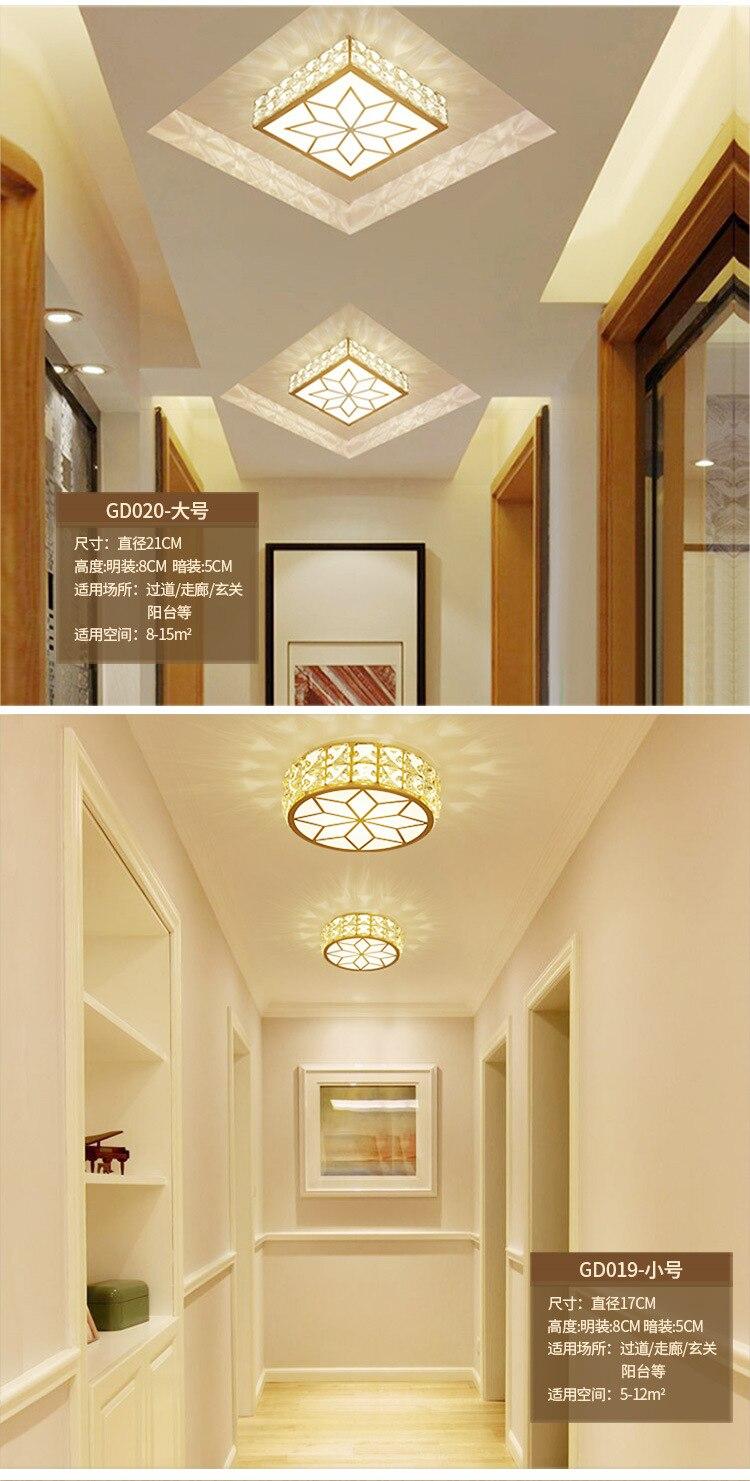 Europeu-estilo moderno lâmpada do teto de cristal