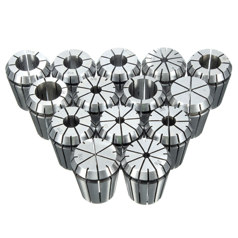 14PCS Collet Chuck ER32 Precision Set Tool Holder Milling Chuck CNC Lathe Tool 1/16 Inch-3/4 Inch for Drilling Tapping Machine C