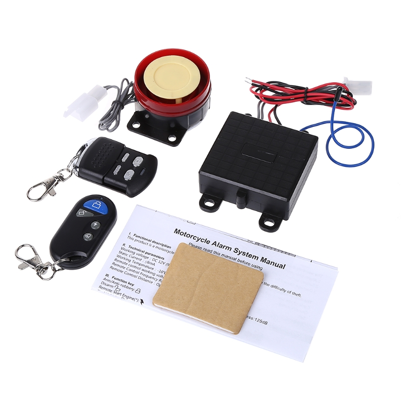 New 1 Set Scooter Car Security Alarm System Remote Control 12V Anti-theft Motorcycle Bike