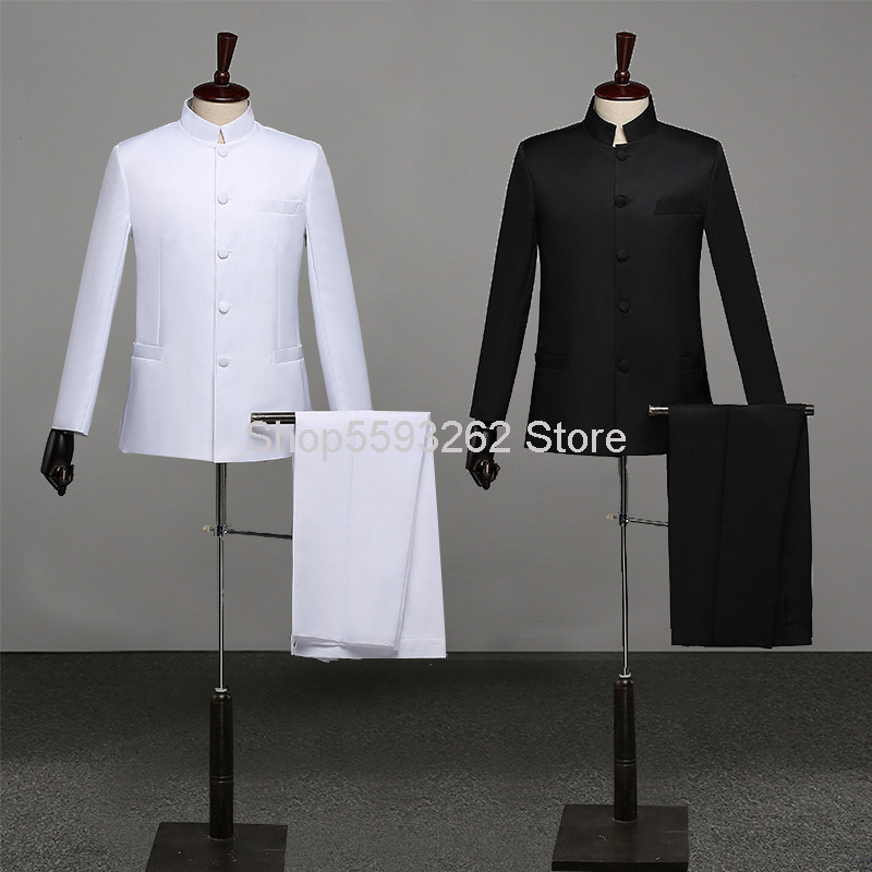 Chinese Tunic Suit Li Collar Republic Of China Student Outfit Five Four Youth Pack Republic Of China Suit Performance Clothing image