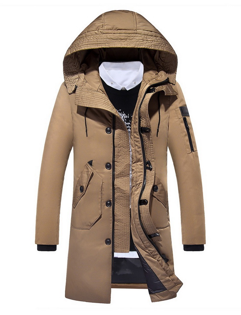 High-end new men's casual and comfortable fashion white duck down keep-warm pure color warm down jacket Colorfast Anti-Pilling