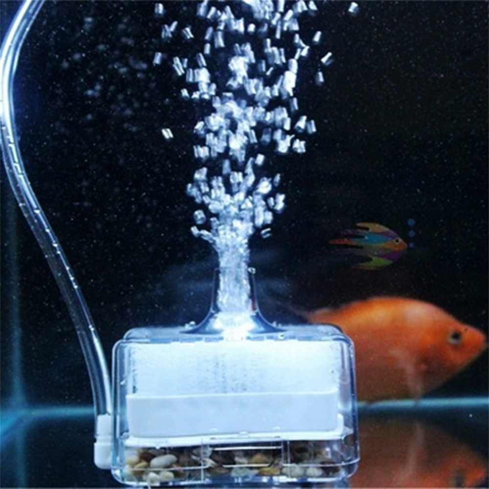 Plastic Aquarium Pomp Filter Zuurstof Lucht Aangedreven Verse Lucht Biochemische Spons Aquarium Super Activated Carbon Filter