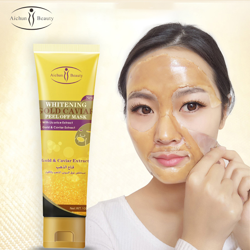 AiChun Golden Peel Mask Gold Powder Particles Blackhead Remover Shrink Pores Anti-acne Fade Freckle Facial Cleansing Mask Care