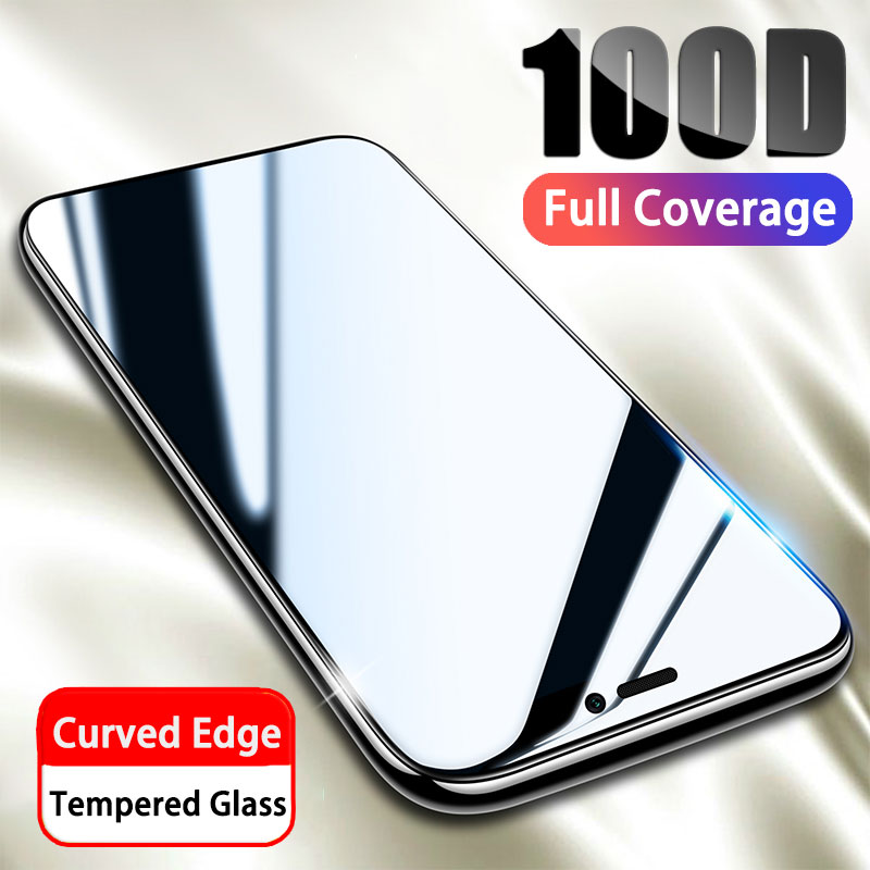 100D Tempered Full Protective Glass on For iPhone 11 X XR Xs Pro Max Curved Edge