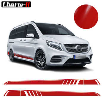 2pcs for Mercedes Benz Vito V Class W447 2014-2018 AMG Edition Car Styling Side Sticker Decal Side Skirt Stripes Vinyl Decals - DISCOUNT ITEM  52% OFF All Category