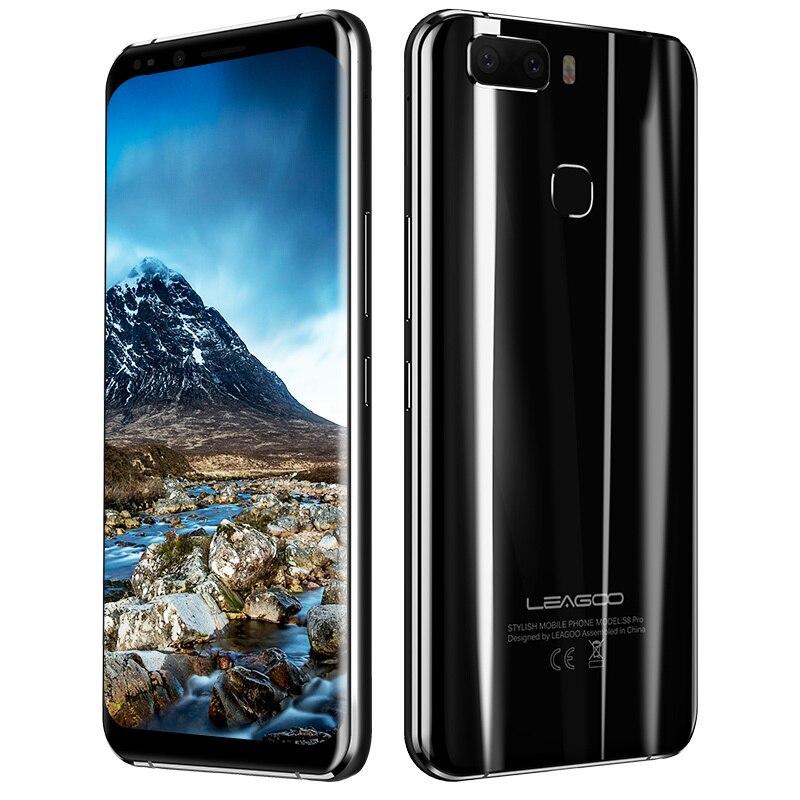 LEAGOO S8 Pro MTK6757 Octa Core 6 ГБ + 64 ГБ Android 7,0 3050 мАч двойной камеры заднего вида 13MP отпечатков пальцев 5,99 дюймов полный Экран чехол для телефона
