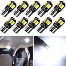 Luz de led canbus para interior de carro, luz com 10x led w5w canbus t10 para bmw f30 f10 x5 e53 f15 e70 e71 x6 f16 x1 e84 f48 x3 x4 f34 f31 f11 f07