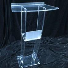 Podium Reception Desk Table Acrylic Church Transparent Welcoming Platform Consultation