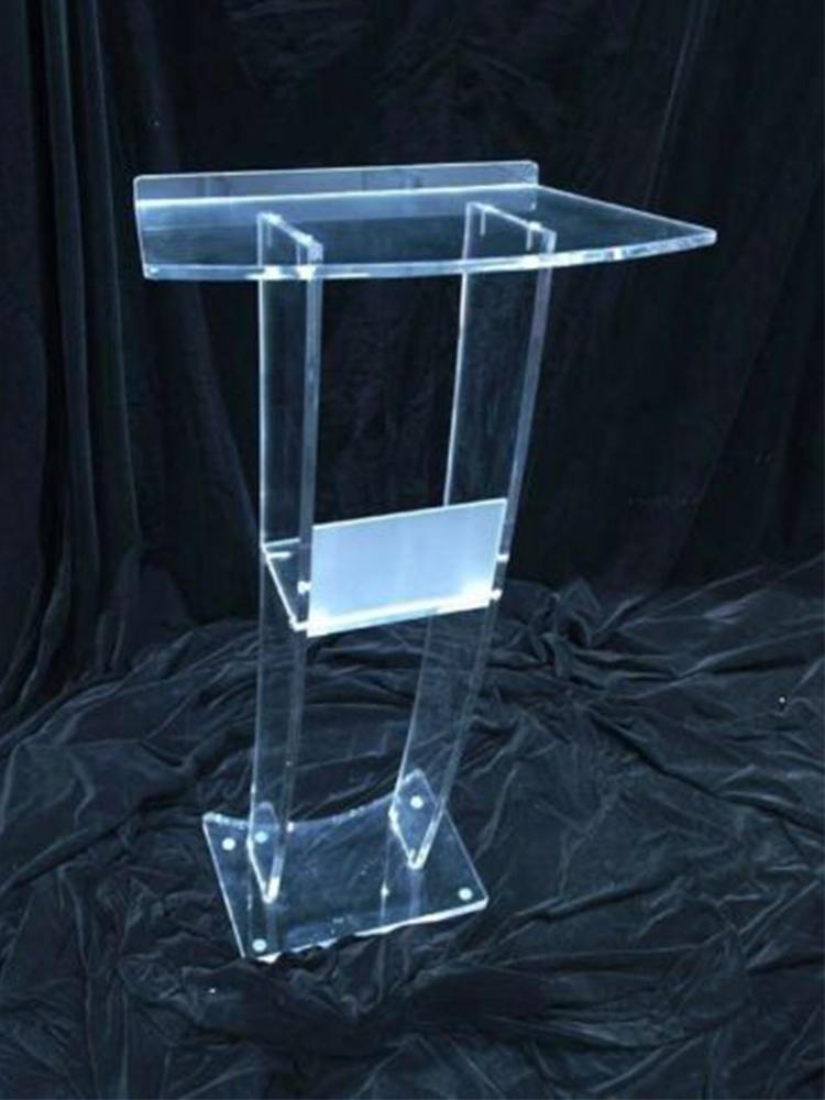 Podium Table Consultation Reception Desk Acrylic Church Transparent Simple Platform Welcoming