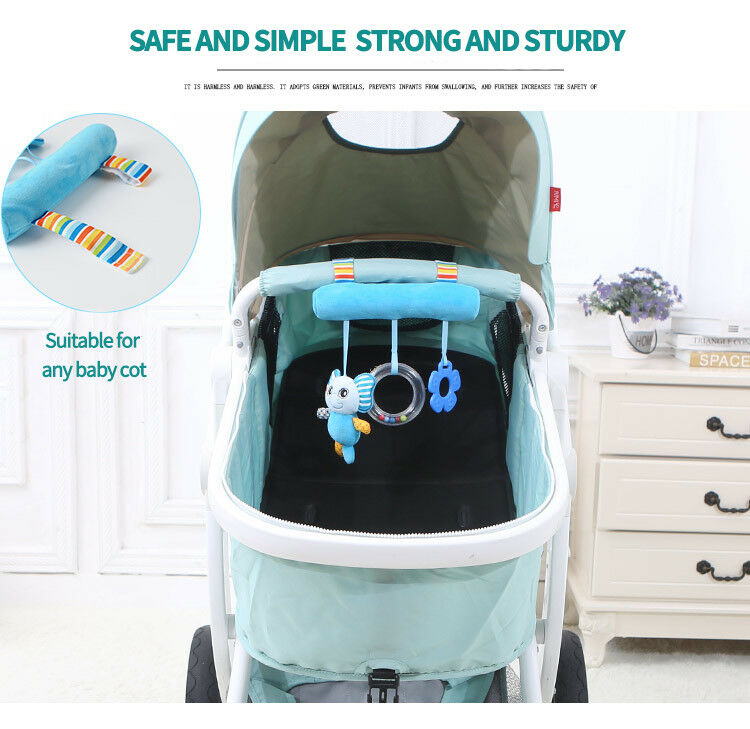 Baby Crib  Mobile Bed Bell Toy Infant Baby Rotary Music Bed Bell Nursery Mobile Animal Cute MonkeyPanda Elephant