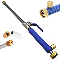 High Pressure Power Washer Wand Water Spray Nozzle Sprayer TPR Handle Quick Jet Tips Garden Car Washer Wand Car Washing Tool