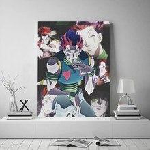 Uma peça anime hisoka hunter x hunter villai arte da parede fotos lona hd impressão decoração casa na parede pinturas a óleo decoração do quarto