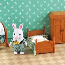Familia de animales de bosque, muebles de casa de muñecas, juguete de bosque, familia, Mini dormitorio, bricolaje, Miniatura, muebles para niños, 1:12