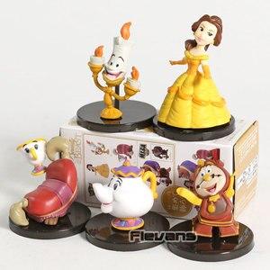 Image 3 - WCF personnages classiques Vol.4 la Belle et la bête Belle Mini figurines à collectionner en PVC jouets 5 pièces/ensemble