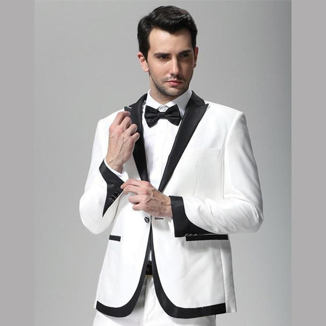 White-and-Black-Lapel-Wedding-Tuxedo-Groom-men-suit-Wear-Slim-Fit-Man-Groomsmen-Prom-Evening
