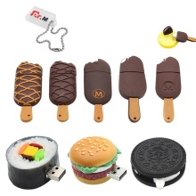 Funny Usb Flash Drive 16GB Cartoon Sushi Memory Stick 4GB 8GB 32GB Usb Disk Ice Cream 128GB Creative Real Capacity Pen Drive