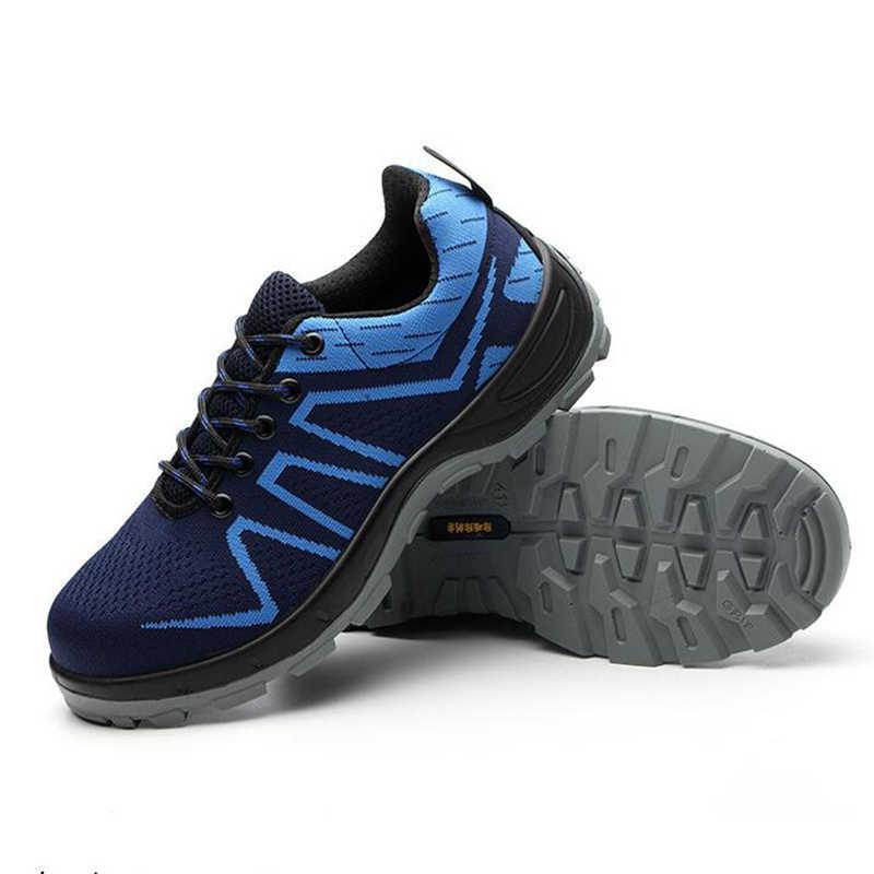 Mannen En Vrouwen Stalen Neus Veiligheid Laarzen Schoenen Outdoor Ademende Mannen Schoenen Naalddichte Werknemers Sneakers