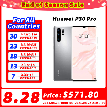 100% Original Global Version Huawei P30 Pro MobilePhone 6.47'' 8GB 256GB Kirin 980 Octa Core Android 10 in screen up to 50x zoom 1