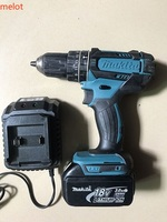 MAKITA power tools 18V lithium battery electric hand drill flat drill function (used products)