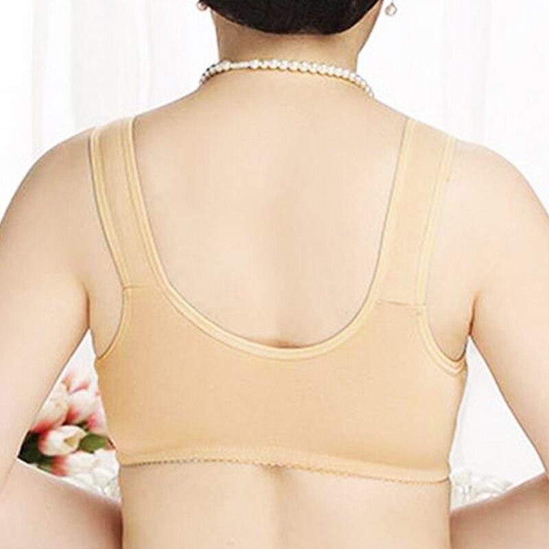 Plus Size Women Bra Front Closure Brassiere Underwear Vest Lingerie Tops Bralette 36-46 A B C Cup 2