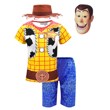 Boys Clothes Woody Costumes Kids Deluxe Children Fancy Halloween Costume for Role Play Cowboy Suit