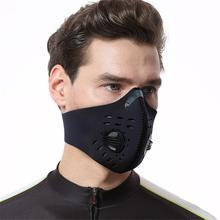 Black Cycling Mask Riding Sports Dustproof Anti-fog Masks Shockproof Warm Soft Elastic For Outdoor