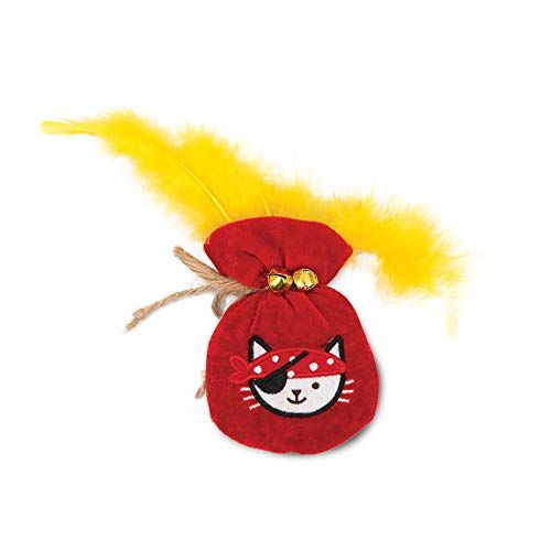Catit Play Pirates Gold Pouch Catnip Toy