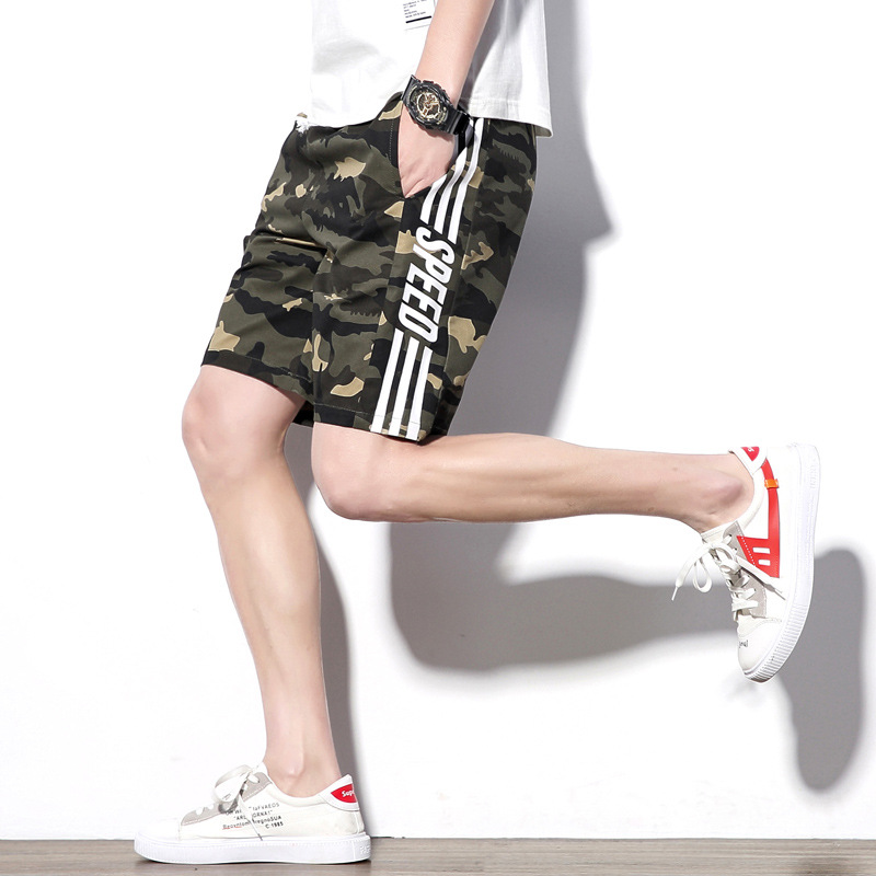 Summer New Style MEN'S Casual Shorts Korean-style Shorts-Style Pure Cotton Washing MEN'S Beach Pants
