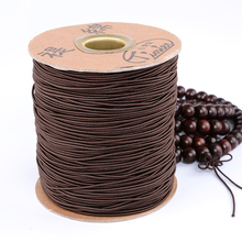 MOQ=1PC 0.8/1.0/1.2mm Elastic Beading Cords Hard-wearing DIY Necklace Bracelet Jewelry Beads Accessories String Thread Classical
