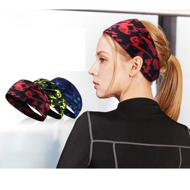 Outdoor Fitness Running Headband Bandage Quick-drying Sweat Belt Sports Tennis Headband Sweat-proof Breathable Headband 4