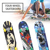 Double Rocker Professional Skateboard Entry Board Four Wheel Skate Board Adult Kids Non-slip Wear-resisting Quiet Longboard Bag