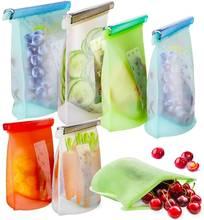 1000 мл Еда сумка для хранения Многоразовые силиконовые герметичные