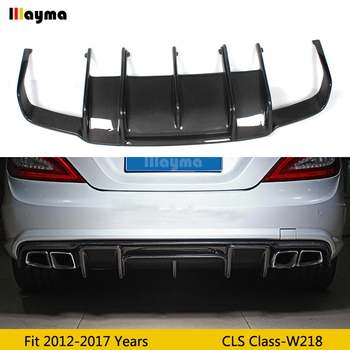 Renntech Style Carbon Fiber Rear Bumper Lip Diffuser for Mearcedes Benz W218 CLS350 CLS63 AMG Sport Bumper 2011-2014 year