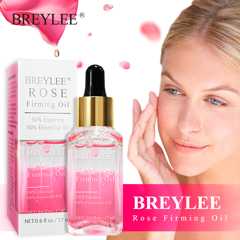 BREYLEE Rose Essential Oil Anti-Aging Firming Lifting Facial Serum Moisturizer Essence Face Skin Care Wrinkle Remover Whitening