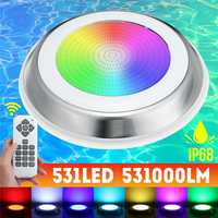 DC12V 55W 531LED RGB Swimming Pool Light Underwater IP68 Waterproof LED Light Multi Color Zwembad Lamp with Remote Control
