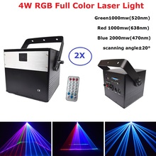 Control Dj Remote 4W RGB Animation Laser Projector Professional Stage Lighting DMX Scanner DJ Disco Party Show