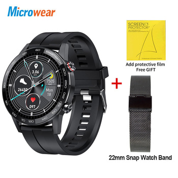 Microwear L16 Smart Watch Men Sports Fitness Tracker IP68 Waterproof Heart Rate Monitor Android IOS Full Touch Screen Smartwatch 15