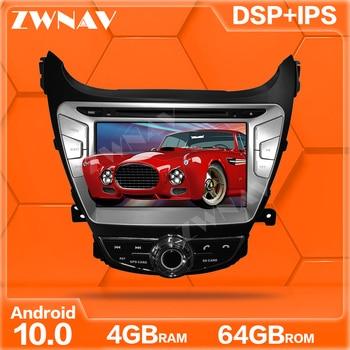 Reproductor de DVD para coche Android 10,0 4 + 64, navegador GPS para Hyundai Elantra 2011-2013, unidad principal de reproductor Multimedia estéreo de Radio para coche con GPS