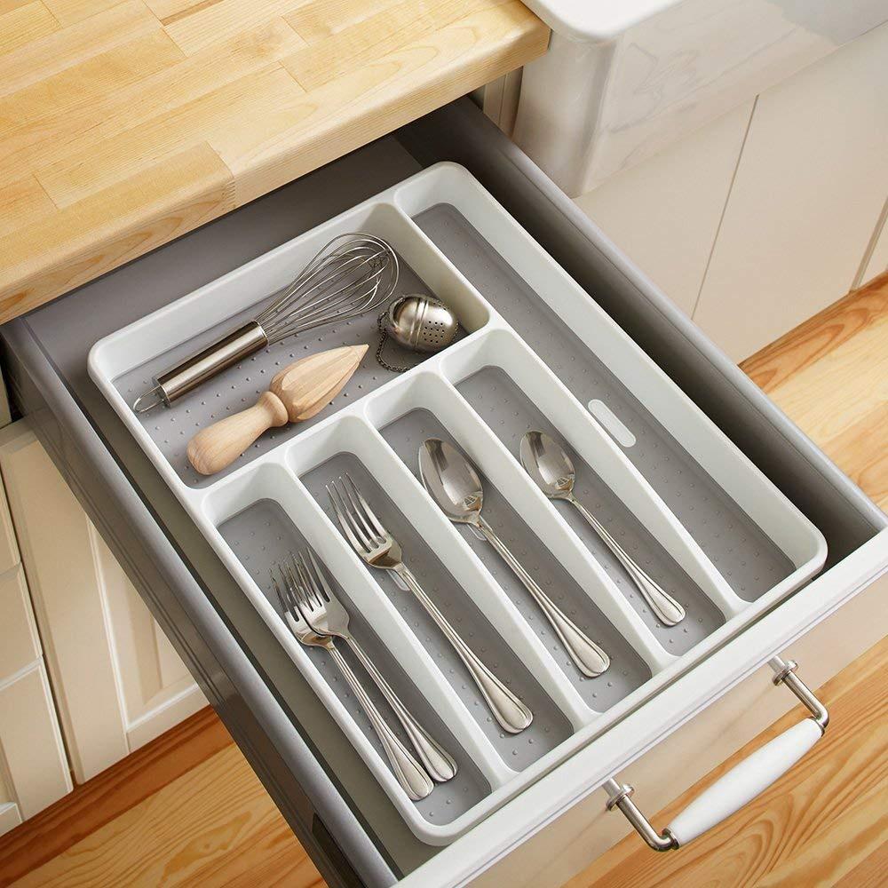 rangement d ustensiles tiroir a couverts de cuisine avec diviseur a 5 6 tiroirs de cuisine