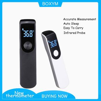 BOXYM cyfrowy termometr czoło podczerwieni bezdotykowy ciało cyfrowy LCD dorosłych i dzieci gorączka termometro pomiar termometro tanie i dobre opinie MATERNITY W wieku 0-6m 7-12m 13-24m 25-36m 4-6y 7-12y 12 + y Ears CHINA TERMOMETRY Elektroniczny Babies Infant White Black