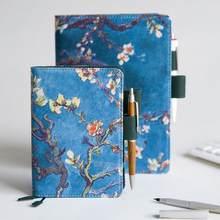 Sharkbang-cubierta de tela de Van Gogh A5 A6, cuaderno recargable y diario, Agenda de tapa dura, regalo escolar